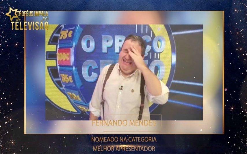 Fernando Mendes agradece nomeação para Melhor Apresentador