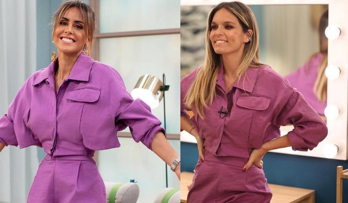 O conjunto casaco e calções que Diana Chaves, Carolina Patrocínio, Sofia Ribeiro vestiram igual