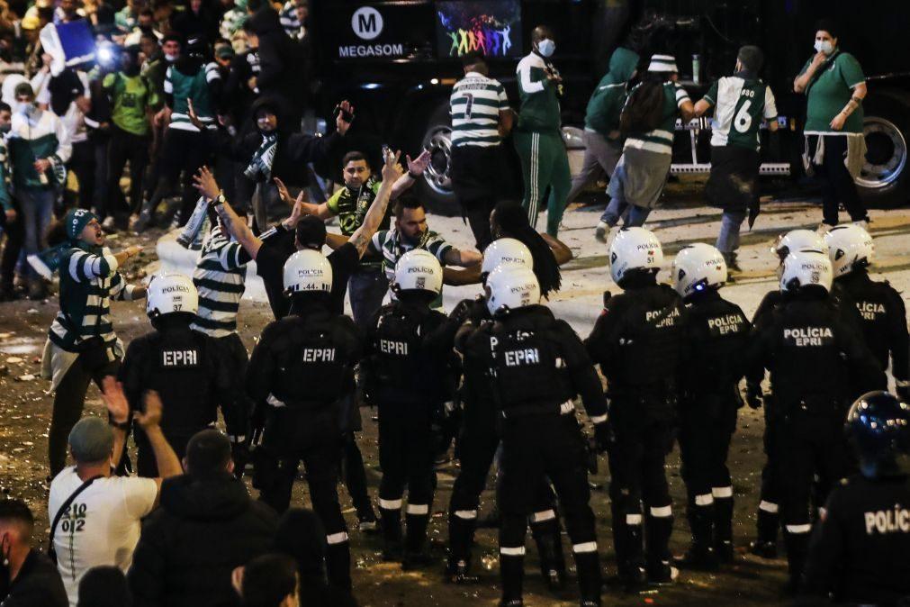 PSP já se pronunciou sobre incidentes ocorridos nos festejos do Sporting