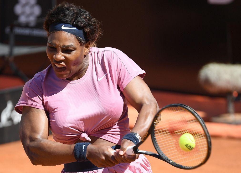 Serena Williams regressa à competiçao em Roma com derrota no encontro 1.000 da carreira