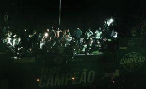 Receção à equipa do Sporting na Câmara de Lisboa sem adeptos