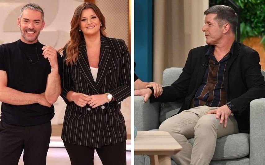 Cláudio Ramos e Maria deixam mensagem a João Baião em direto