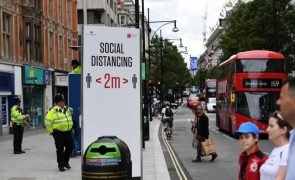 Covid-19: Reino Unido regista 17 mortes nas últimas 24 horas