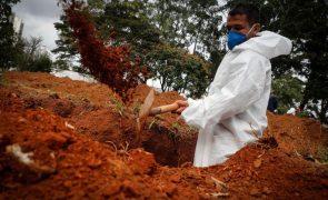 Covid-19: Brasil ultrapassa as 15,5 milhões de infeções pelo novo coronavírus