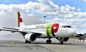 Reservas de passageiros nos voos da TAP entre Portugal e Reino Unido