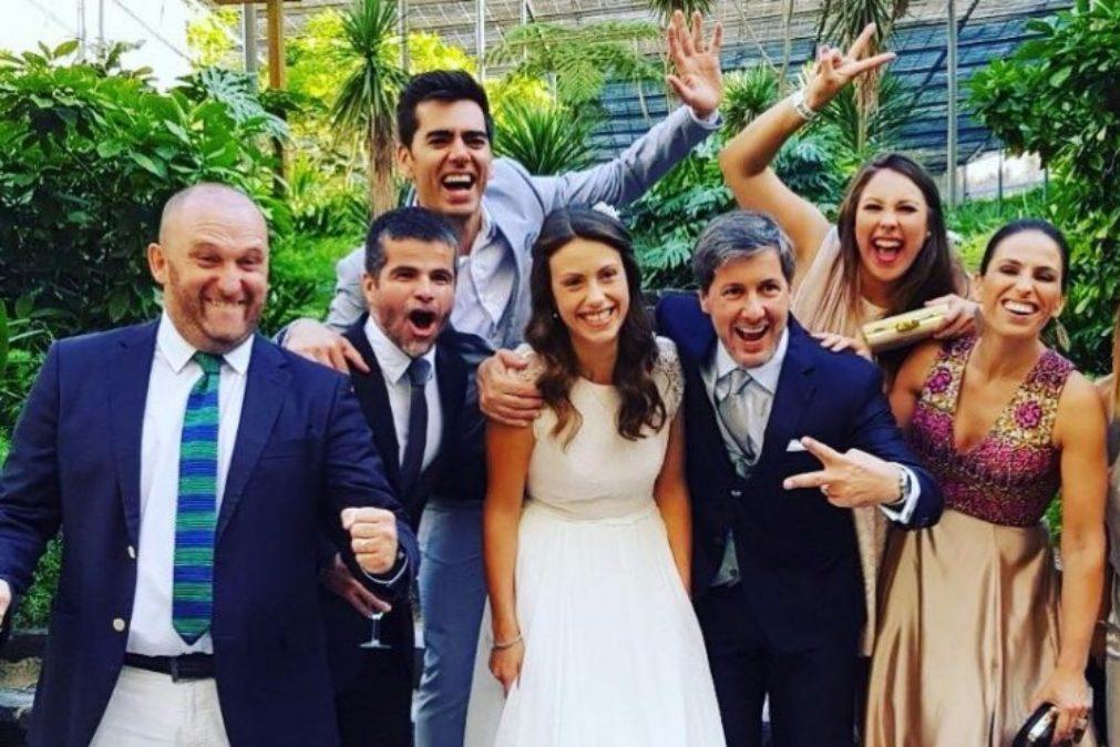 Eduardo Madeira fura protocolo e publica fotos do casamento de Bruno de Carvalho