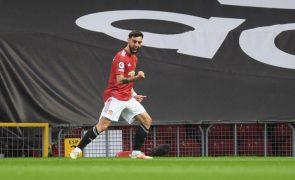 Bruno Fernandes eleito de novo futebolista do ano do Manchester United
