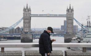 Covid-19: Reino Unido pelo quarto dia consecutivo abaixo de 10 mortes