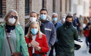 Covid-19: Espanha tem 33 novas mortes, o número mais baixo desde agosto