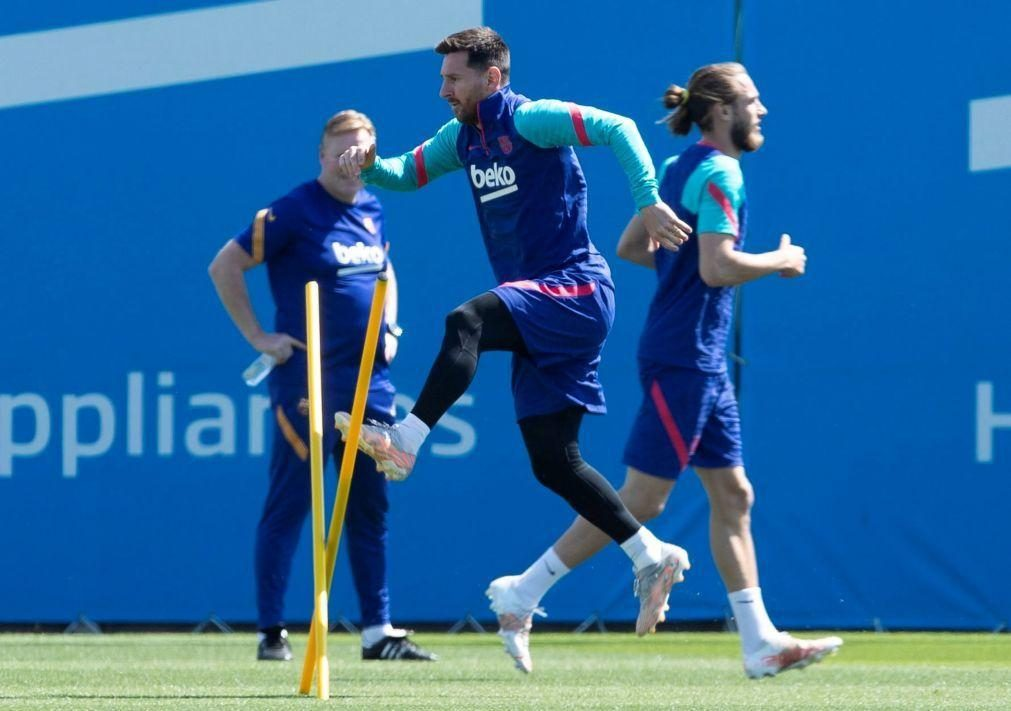 Messi falha treino e jogo do FC Barcelona para