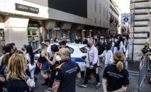 Covid-19: Itália soma 5.218 casos e regista os melhores dados hospitalares desde outubro