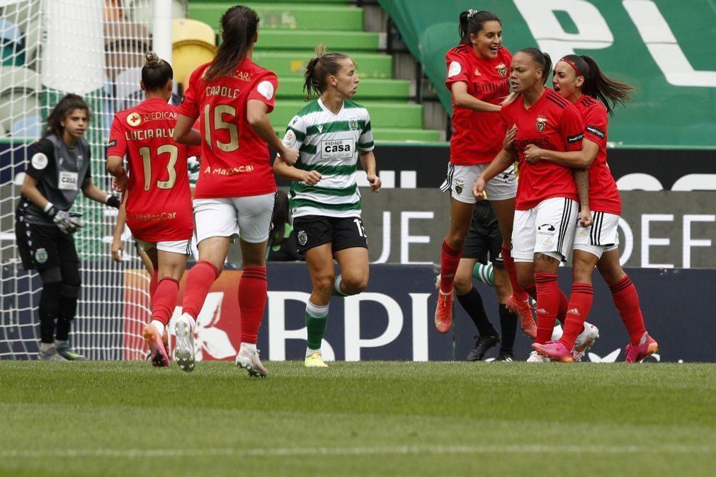 Benfica conquista campeonato de futebol feminino pela primeira vez