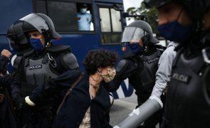 PSP deteve várias pessoas que cortaram trânsito na Rotunda do Relógio, em Lisboa