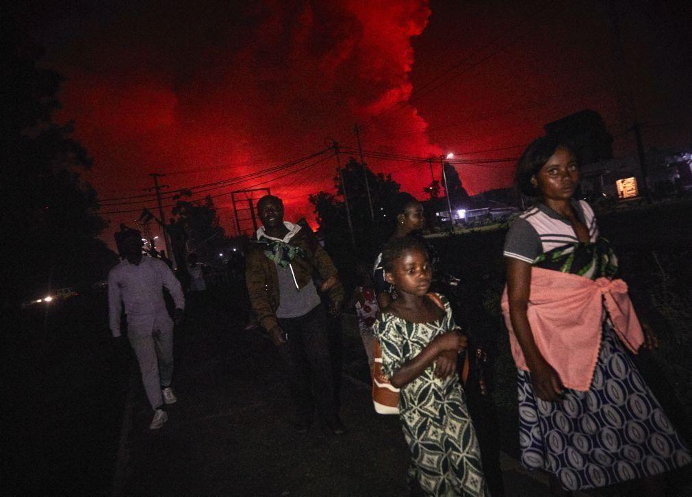 Pelo menos 150 crianças separadas e 170 desaparecidas após erupção de vulcão na RDCongo