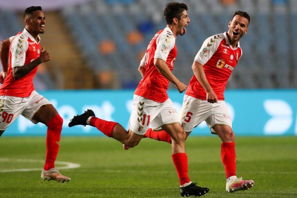 Sporting de Braga vence Benfica e conquista 3.ª Taça de Portugal [vídeo]
