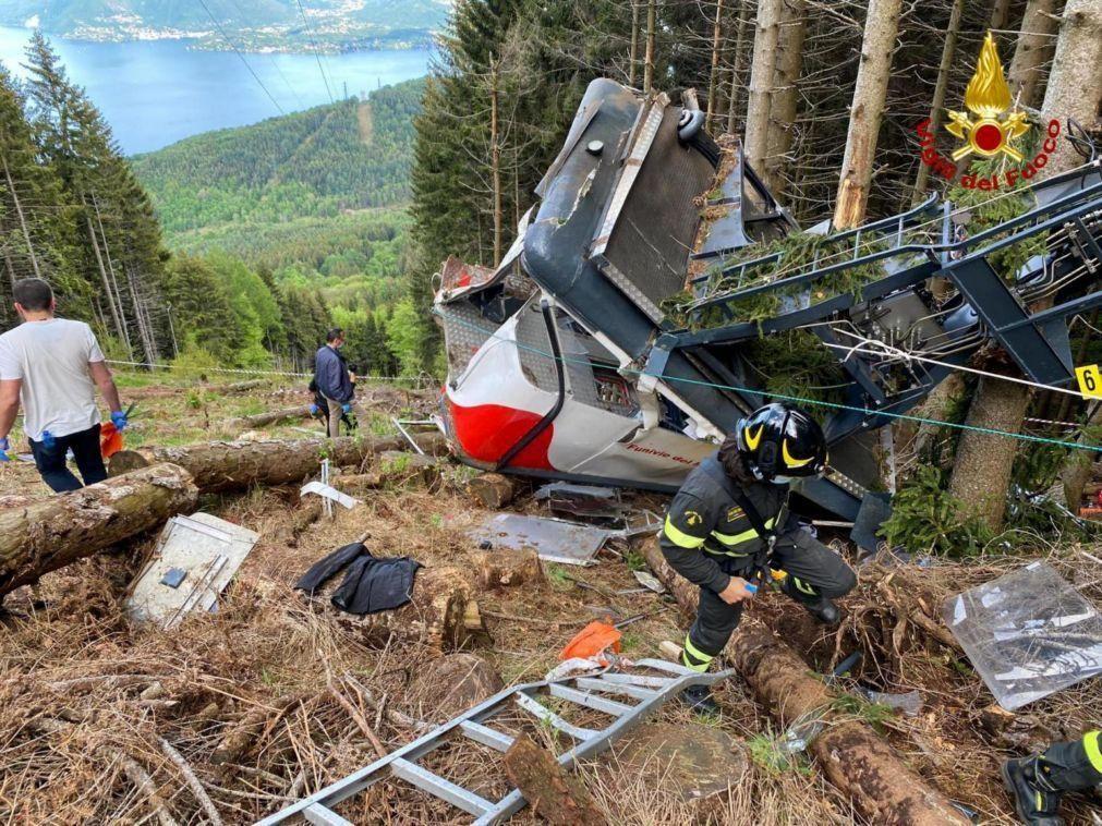Giro: Organização altera 19.ª etapa em respeito pelas vítimas da queda de teleférico