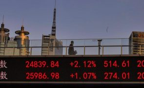 Bolsa de Xangai encerra a subir 0,34%