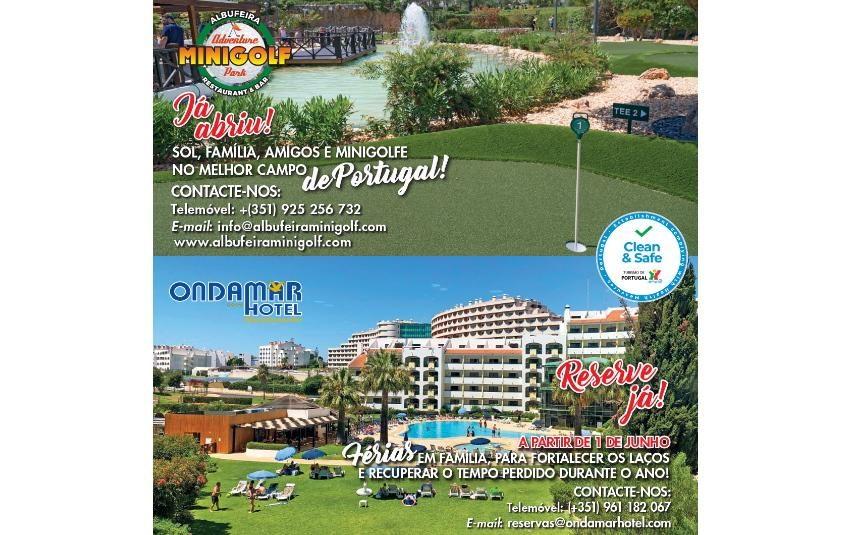 Ondamar Hotel e Minigolfe: Férias seguras com a família no Algarve