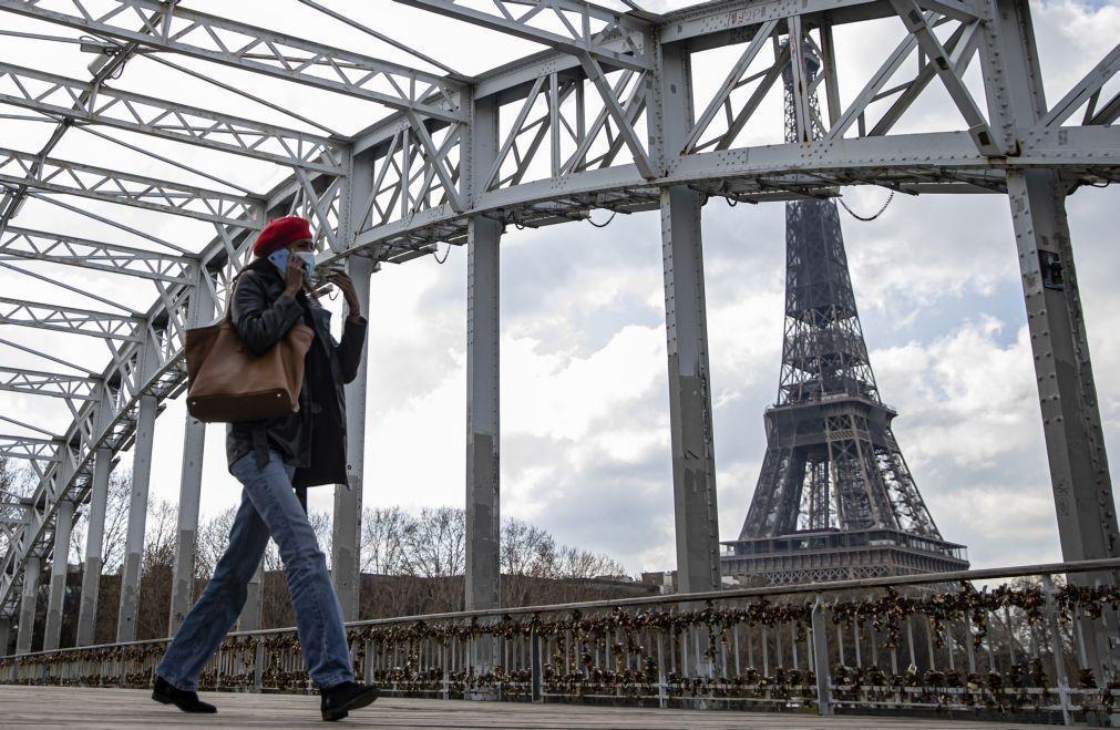 PIB da França cai 0,1% no 1.º trimestre, em vez de crescer 0,4% como previsto