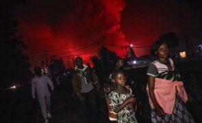 Retiradas 400 mil pessoas na RDCongo após a erupção do vulcão Nyiragongo