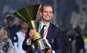 Massimiliano Allegri regressa ao comando técnico da Juventus