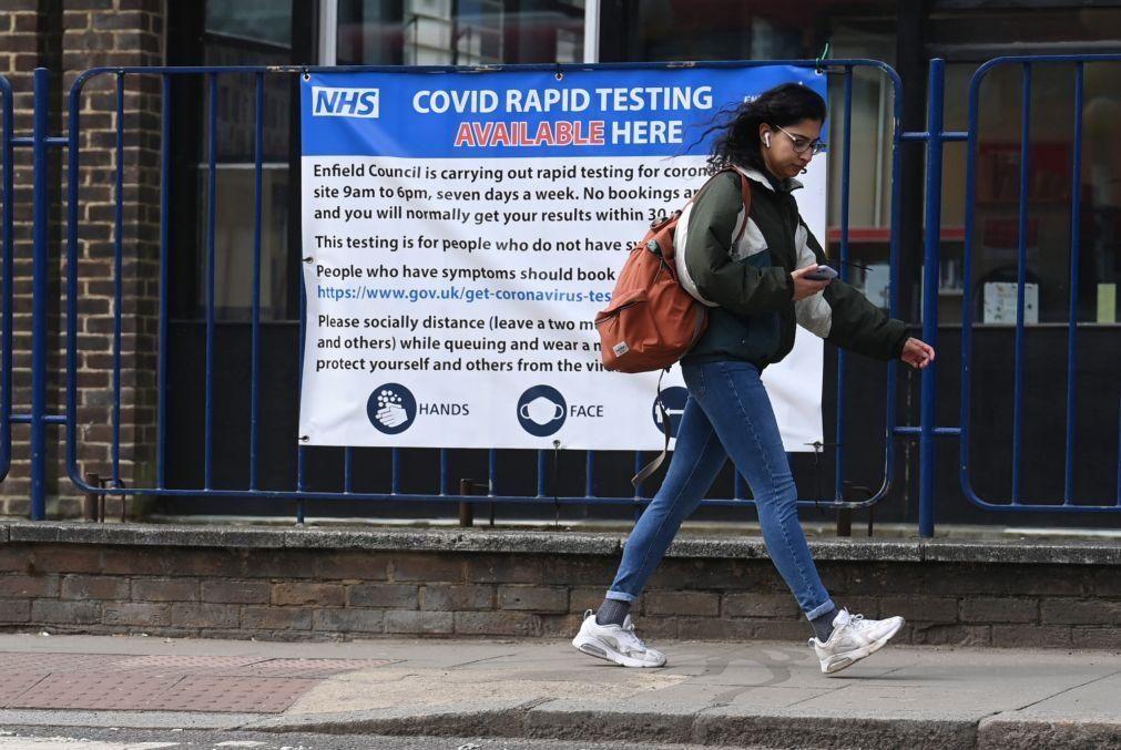 Covid-19: Reino Unido registou 3.398 novas infeções e sete mortos na últimas 24 horas