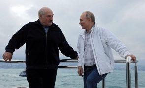 Bielorrússia: Putin e Lukashenko estiveram hoje novamente reunidos