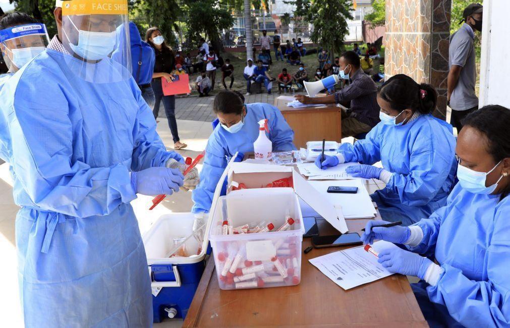Covid-19: Timor-Leste regista 145 infeções e um terço é fora da capital