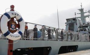 Navio da Armada portuguesa regressa após três meses de missão no Golfo da Guiné