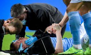 Kevin De Bruyne sofreu duas fraturas no rosto na final da Liga dos Campeões