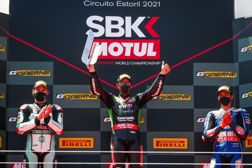 Jonathan Rea repete triunfo na 'despedida' do Mundial de Superbikes do Estoril