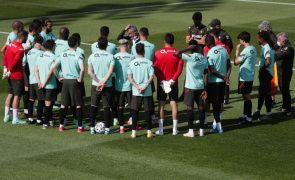 Euro2020: Portugal retoma preparação depois da folga ainda com cinco ausentes