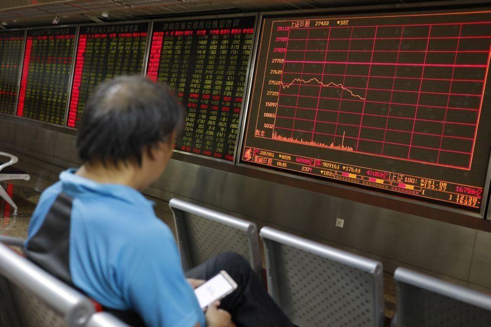 Bolsa de Xangai encerra a subir 0,41%
