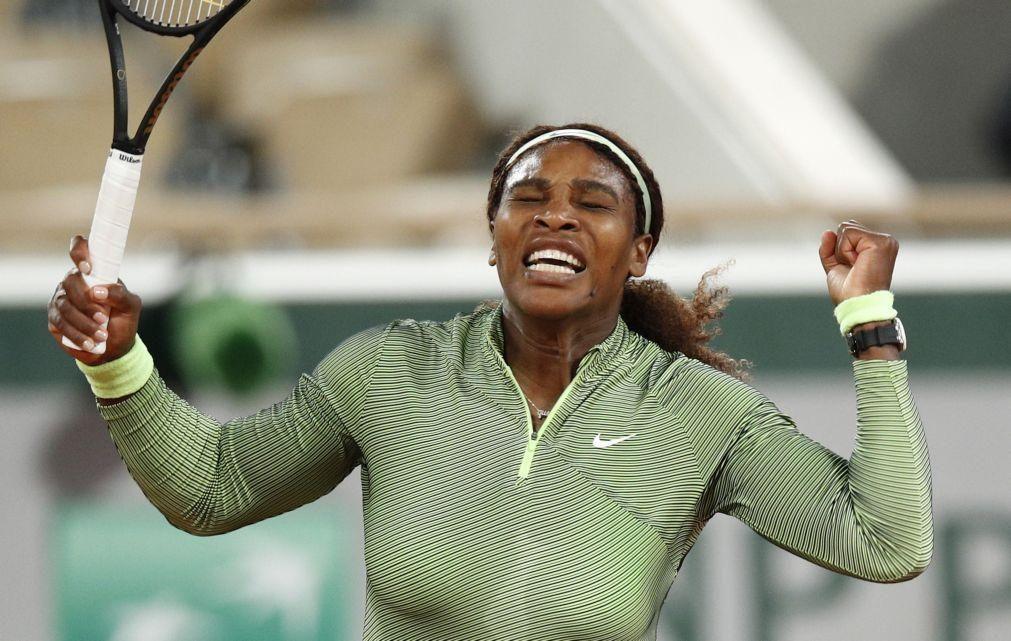 Roland Garros: Serena Williams apura-se para a segunda ronda