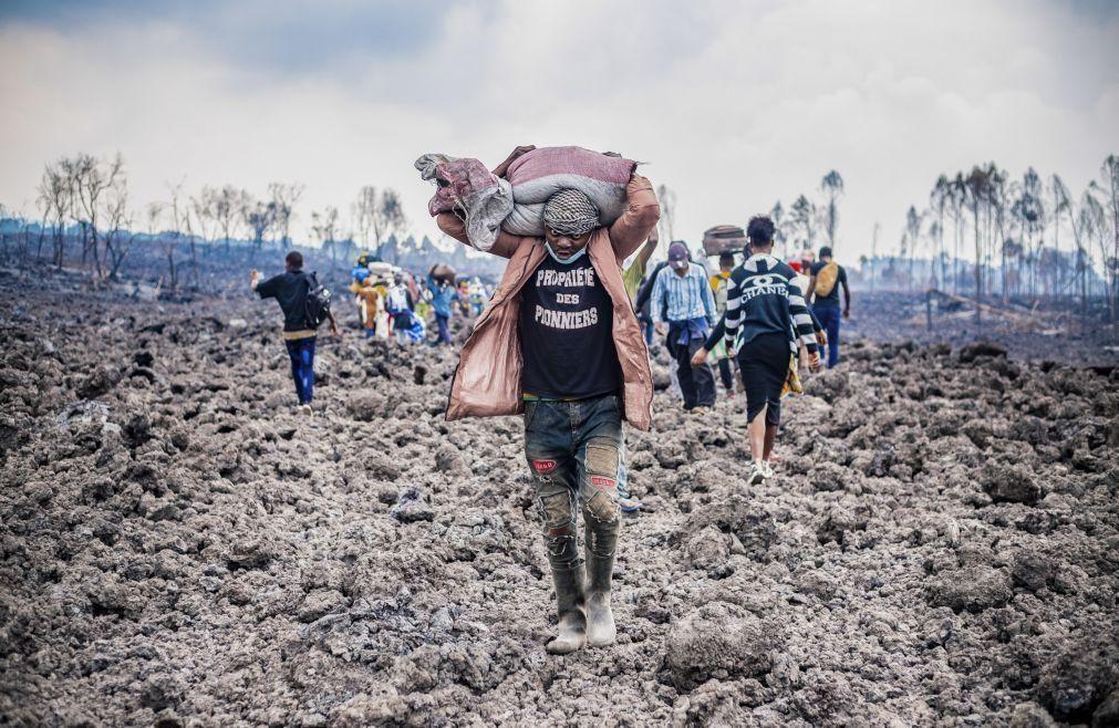 Meio milhão de pessoas sem água potável após erupção de vulcão no Congo