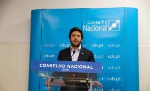 Rodrigues dos Santos convicto de que CDS vai manter câmaras que lidera