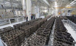 Preços na produção industrial sobem 7,6% na zona euro e UE em abril - Eurostat