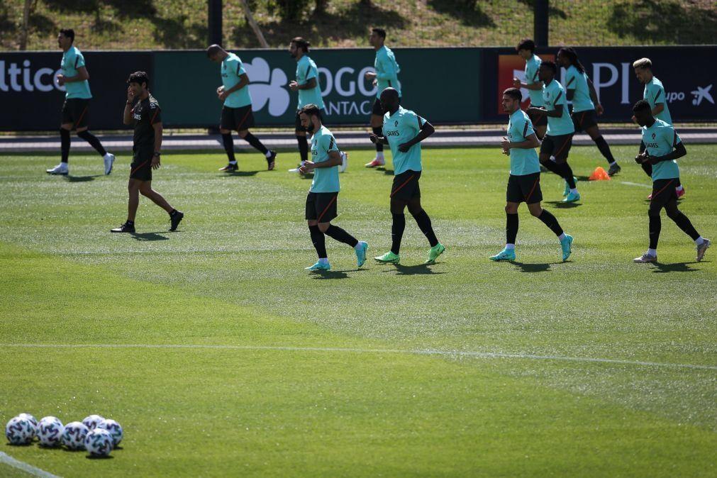 Euro2020: Bruno Fernandes realizou primeiro treino, Moutinho trabalhou à margem do grupo