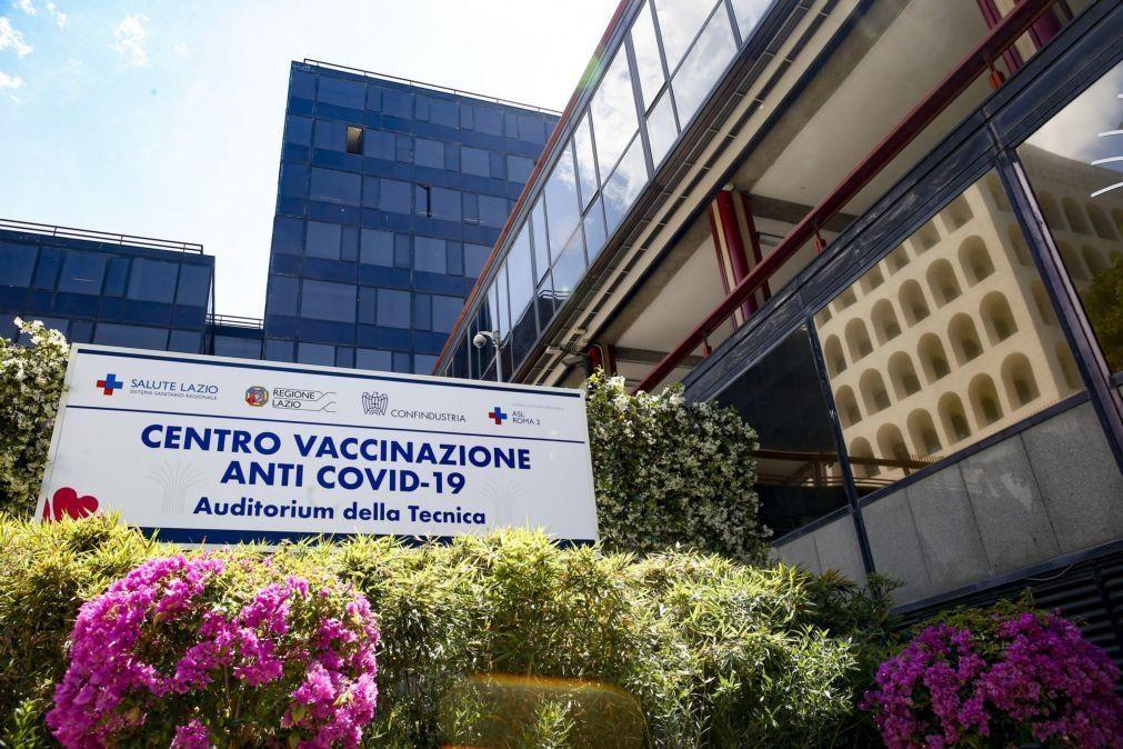 Covid-19: Itália soma 2.897 novos casos e 62 mortes, com 22,74% da população imunizada