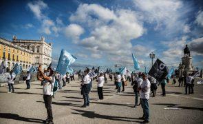 Polícias vão aguardar por resposta do Governo após concentração em Lisboa