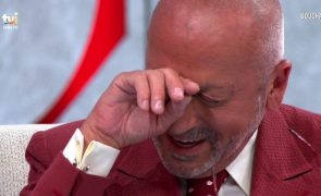 Manuel Luís Goucha desmancha-se em lágrimas com pergunta de convidada