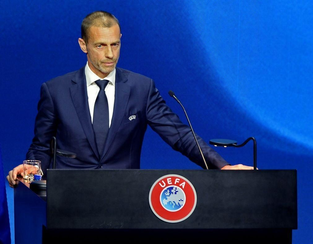 Presidente da UEFA elogia colaboração com FPF durante a pandemia