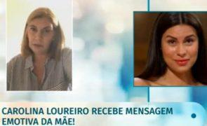 Carolina Loureiro em lágrimas com rara e emotiva mensagem da mãe