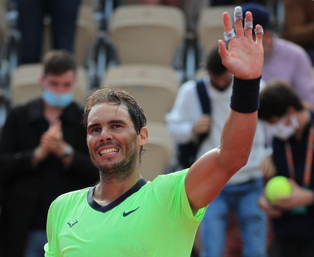 Nadal pela 16.ª vez nos oitavos de final de Roland Garros