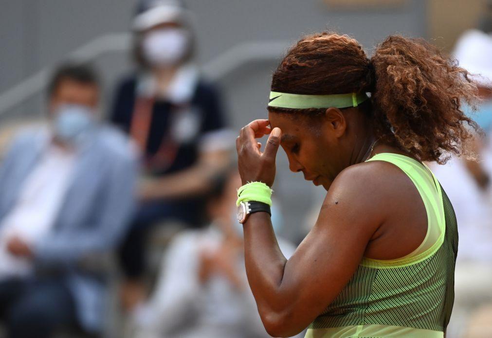 Serena Williams eliminada nos oitavos de final de Roland Garros