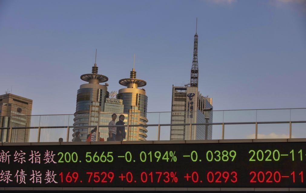 Bolsa de Xangai encerra a cair 0,54%