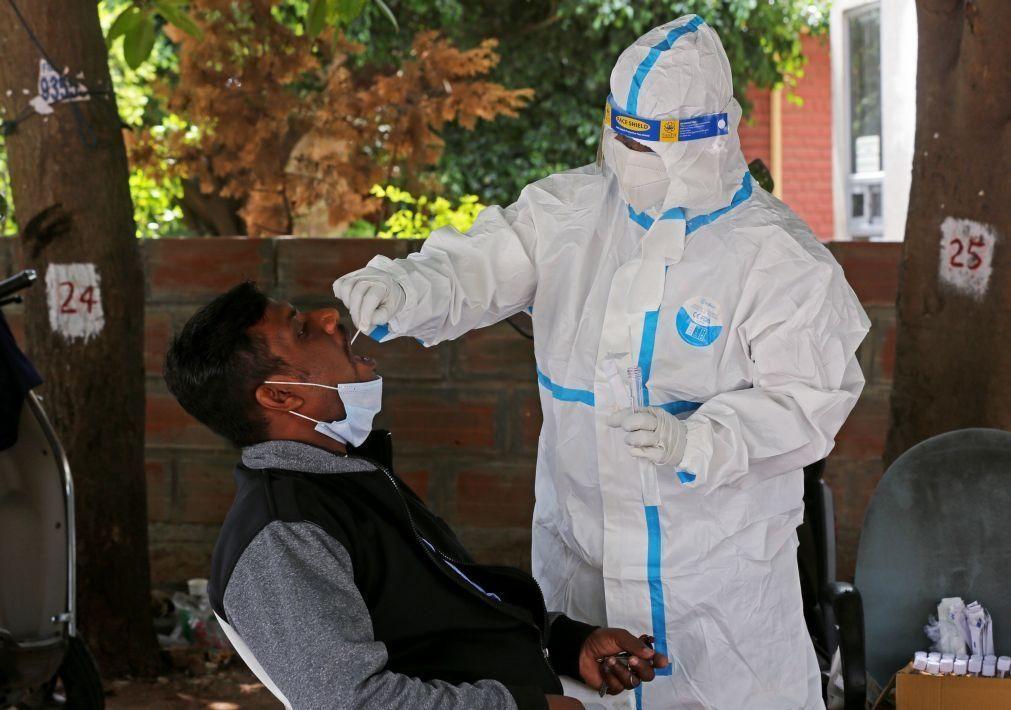Covid-19: Índia registou hoje o número mais elevado de mortes num dia