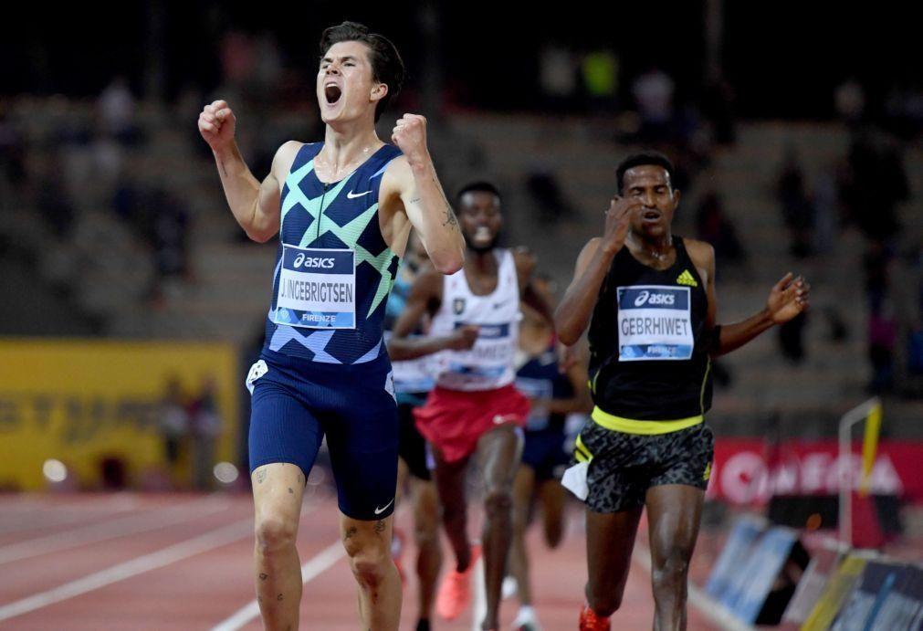 Jakob Ingebrigtsen melhora recorde europeu dos 5.000 metros