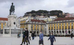 Covid-19: Lisboa e Vale do Tejo continua a liderar o Rt, mas baixa de 1,16 para 1,12