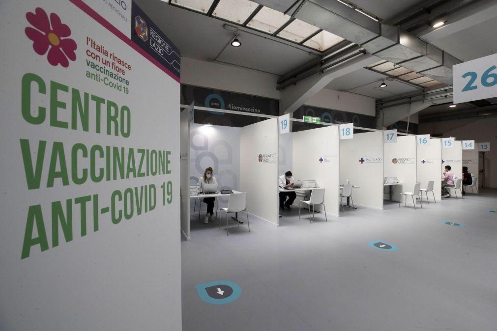 Covid-19: Itália soma mais 1.901 casos e atinge 25% da população imunizada